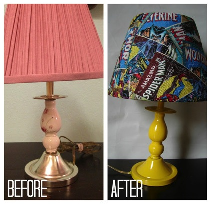 lamps with bookish items